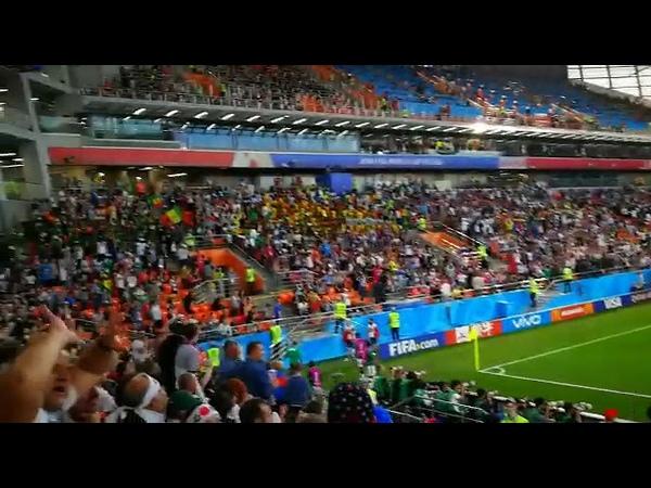 Сенегал ликует после второго гола в ворота Японии