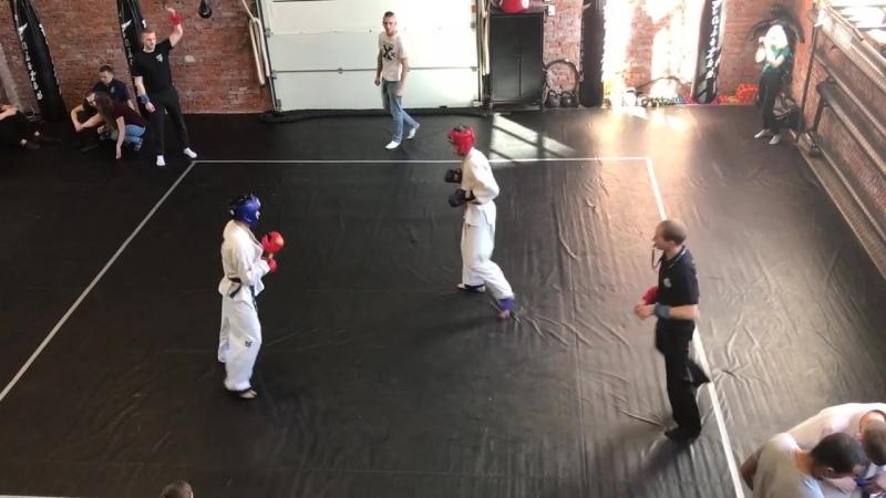 Финал 70 кг. Киселёв Артемий (красный)- Гасанханов Саид (синий)