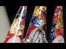 наращивание ногтей форма стилет Аквариумный дизайн ногтей