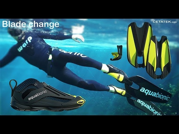 World's first binding system for diving fins Aquabionic abs