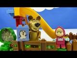 Строим из Lego Duplo, Unboxing, BIG Bloxx Masha and Bear Pool Fun, Маша и медведь, бассейн