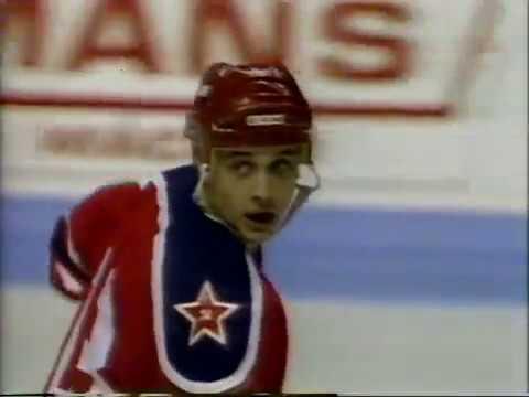 1988 Quebec Nordiques Canada CSKA Moscow USSR 5 5 Friendly hockey match Super Series