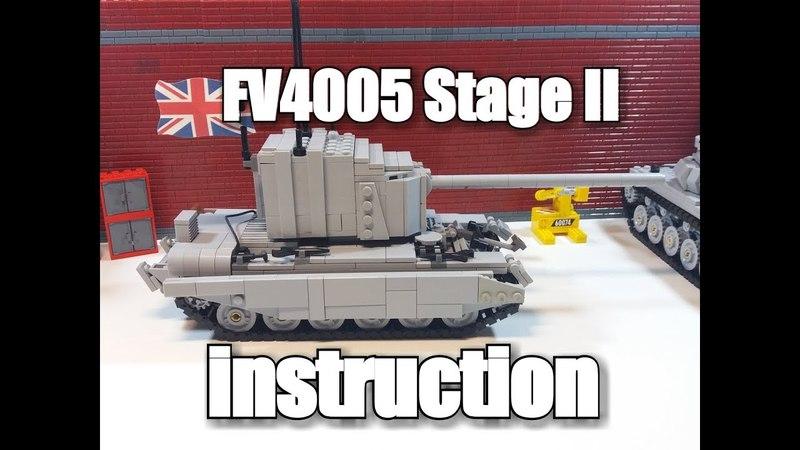 LEGO tank instruction : FV 4005 Stage II