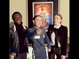 Millie Bobby Brown, Sadie Sink and Caleb McLaughlin for Emmys