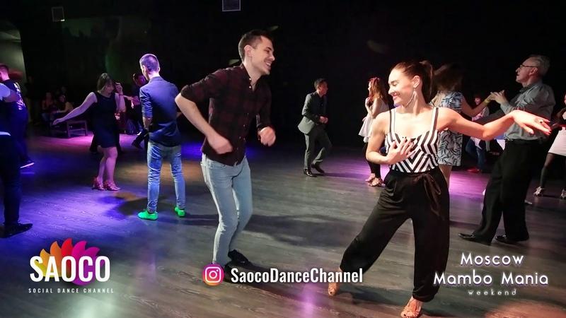 Boris Zayarin and Olesya Petrova Salsa Dancing at Moscow MamboMania weekend, Saturday 27.10.2018