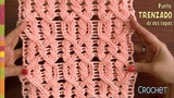 Punto trenzado en dos capas tejido a crochet paso a paso Tejiendo Peru