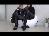 Footsie Play in sexy leather boots
