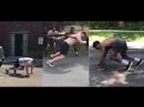 Американские борцы Кайл Снайдер, Адам Кун и Джордан Барроуз провели заочное соревнование по перетаскиванию авто