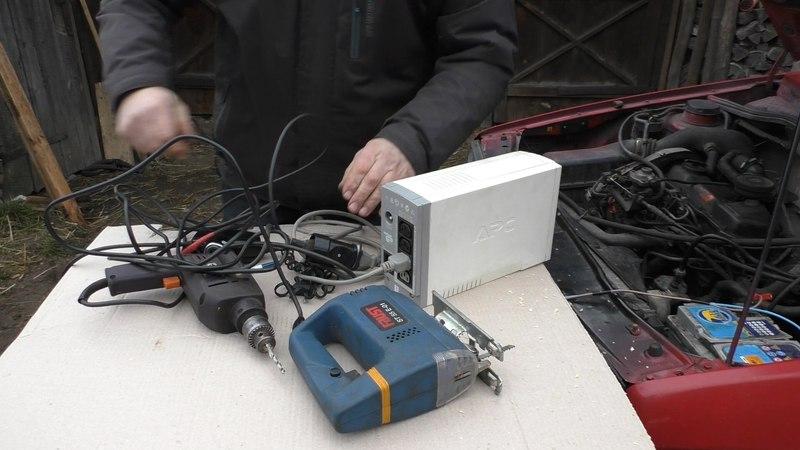 Простой инвертор тока из 12 В в 220 В из старого бесперебойника на 300 Вт inverter 12-220volt ghjcnjq bydthnjh njrf bp 12 d d 2