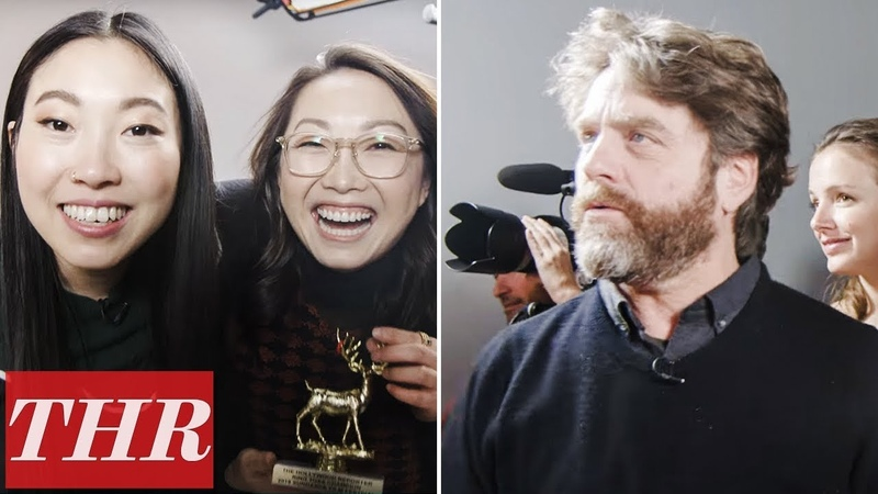 Ring Toss Challenge Awkwafina Zach Galifianakis Daniel Radcliffe More Sundance = Tim Roth at 0 27