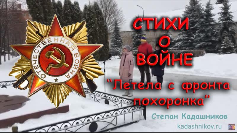 Стихи о войне Степан Кадашников на 9 мая Настя Панфилкина Летела с фронта похоронка. (на митинге 13.12.2018)