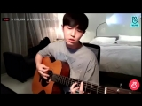 Wanna One's Jaehwan was singing The Truth Untold on his VLive - Pt1.mp4