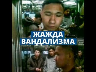 Жажда вандализма: Парень нагло разбил монитор в лифте в Астане