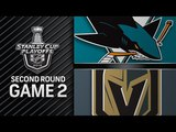 San Jose Sharks vs Vegas Golden Knights – Apr. 28 2018   Game 2