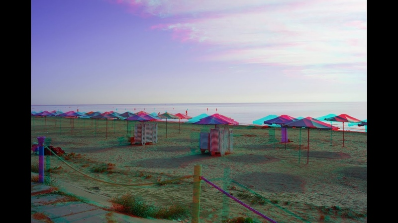 Neighborhoods of the Azov Sea Arabatskaya arrow 3d Anaglyph
