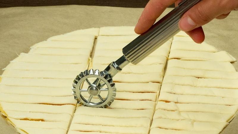 Смажьте 2 коржа слоеного теста яблочным джемом! Посмотрите что из этого выйдет! | Appetitno.TV