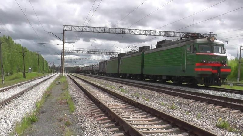 «Сан-Донато». Электровоз ВЛ11М-247 с грузовым поездом