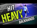 How to Hit HEAVY Backhand Tennis Lesson