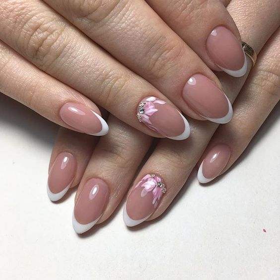 Дизайн Ногтей Розовый С Серебром Фото