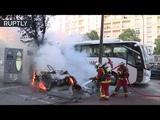 Беспорядочное веселье в Марселе полиция разогнала разбушевавшихся болельщиков