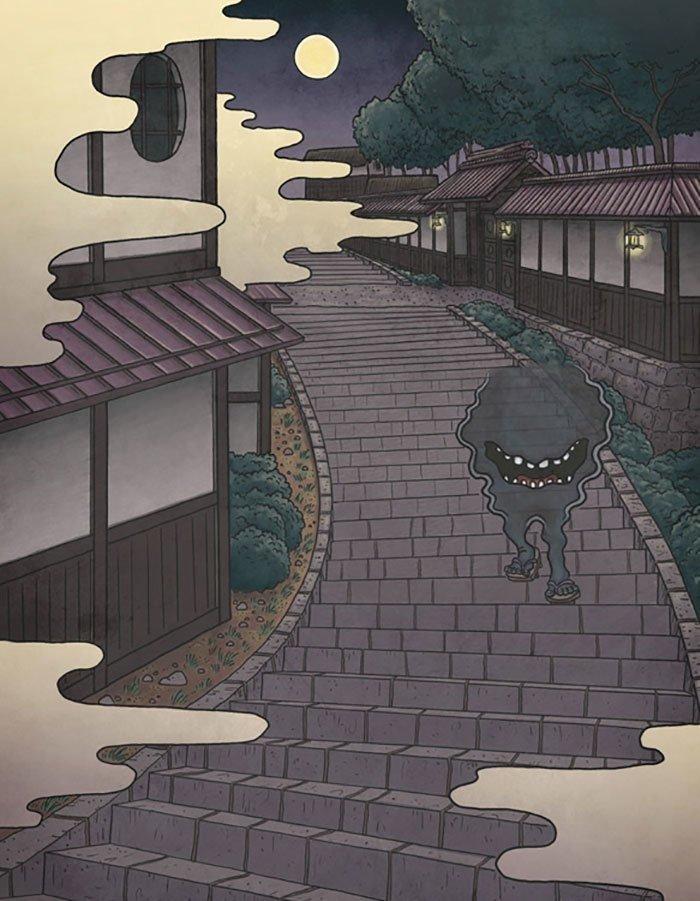 Подборка мифологических монстров японского фольклора