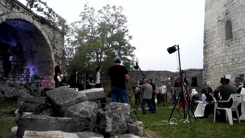 Съёмки клипа в крепости Анакопия