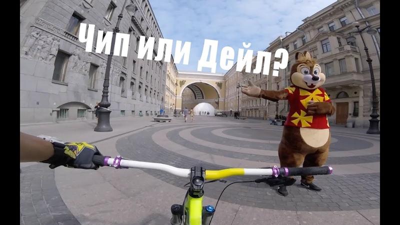 На перегонки с самим собой или как я езжу на веле по городу! - GoPro