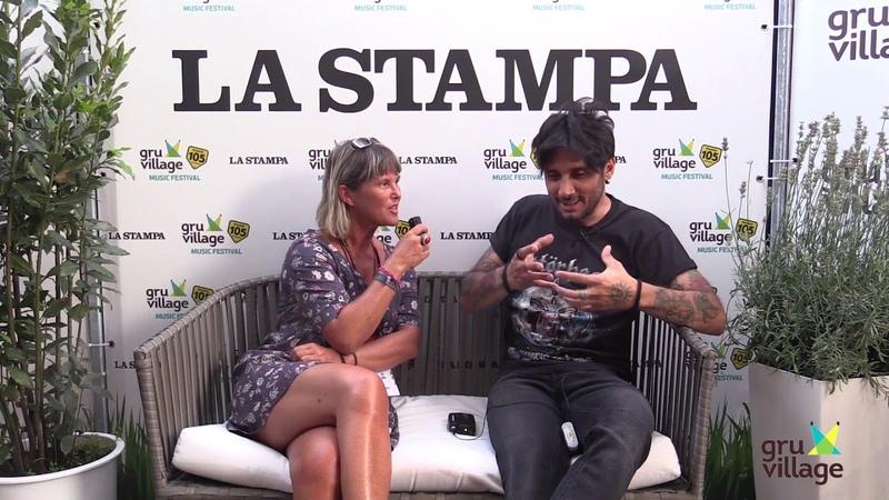 Fabrizio Moro @GruVillage 105 Music Festival - La Stampa (Intervista Integrale)
