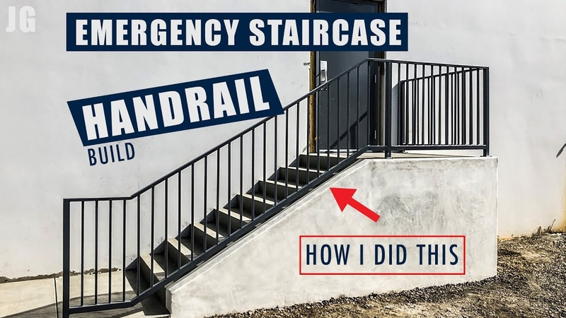 Metal Emergency Staircase Handrail Build | JIMBO'S GARAGE