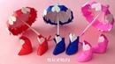 折り紙 長靴(レインブーツ)ハート付き 立体 簡単な折り方 Origami rain boots with heart tutorial65