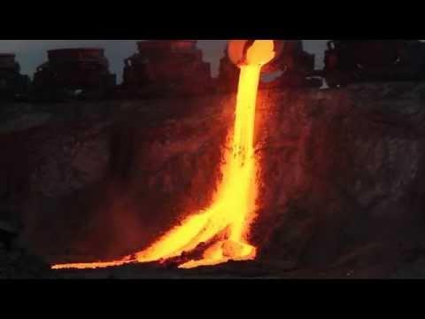 Тулачермет Слив доменного шлака Tulachermet Draining the blast furnace slag смотреть онлайн без регистрации