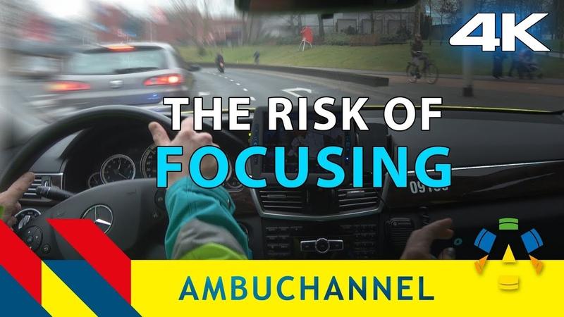 4K Ambulance POV: A very close call on our way to a cardiac arrest.