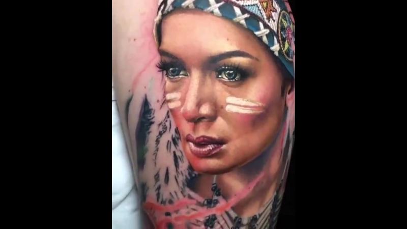 красивая татуировка реализм