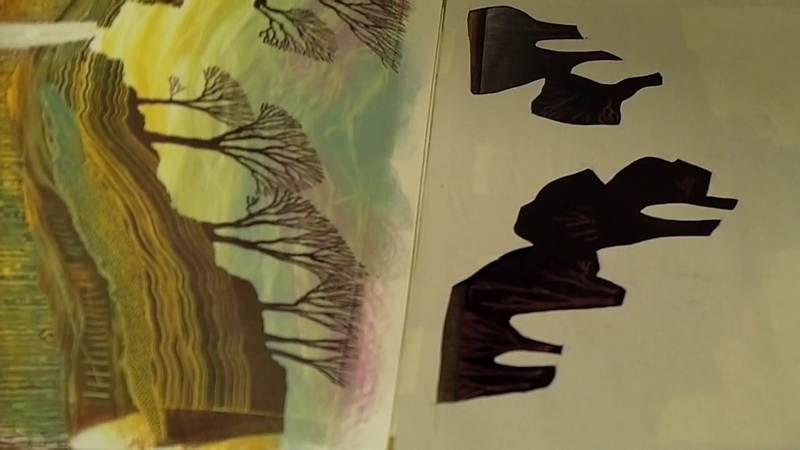 Rebecca Vincent printing monotypes Part 8 Drawing Trees
