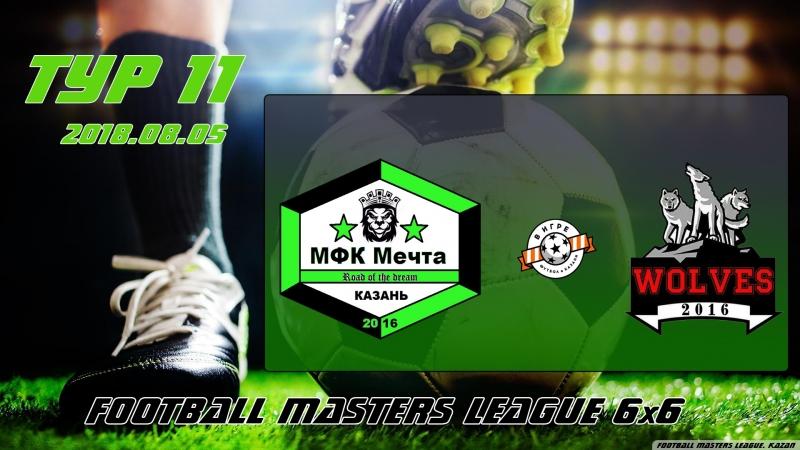 Football Masters LEAGUE 6x6 Мечта v/s Wolves (11 тур).1080p. 2018.08.05