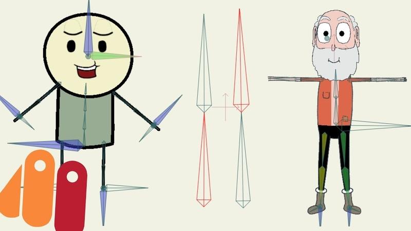 Anime Studio Pro (Moho) - Как объединить костяные слои (костяных персонажей) в общий костяной слой