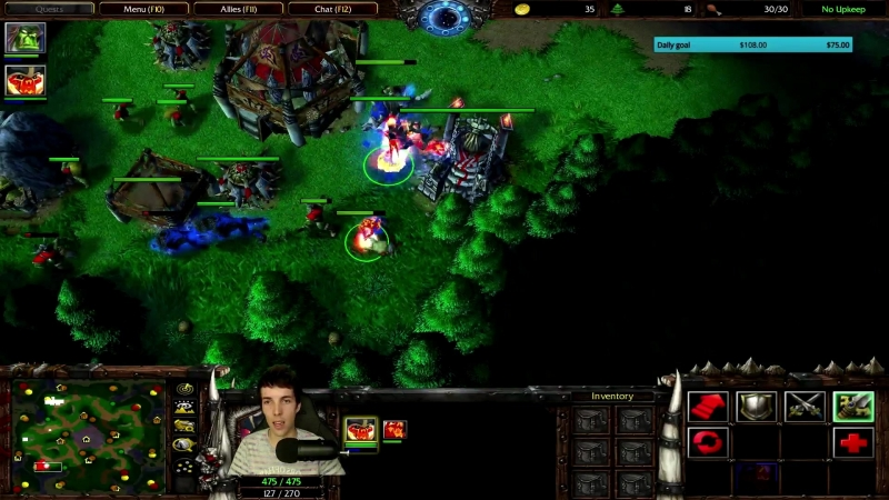 Grubby | Warcraft 3 The Frozen Throne | Orc vs. Orc - FS and FL rush - Twisted Medows