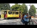 Открытие памятника «Выборгскому трамваю»