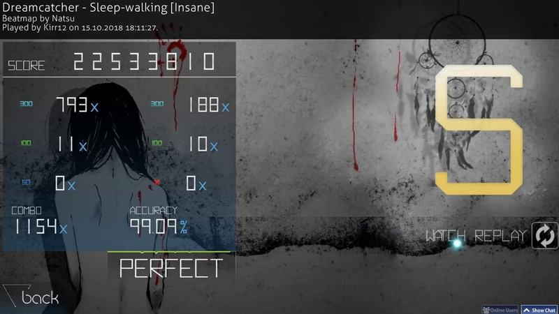 Osu! | Dreamcatcher - Sleep-walking [Insane] | 99.09