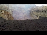 Drones allow for close-up footage of a lava filled crater