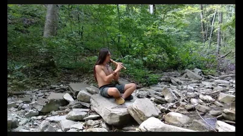 Индейская флейта пимак в си минорной пентотанике