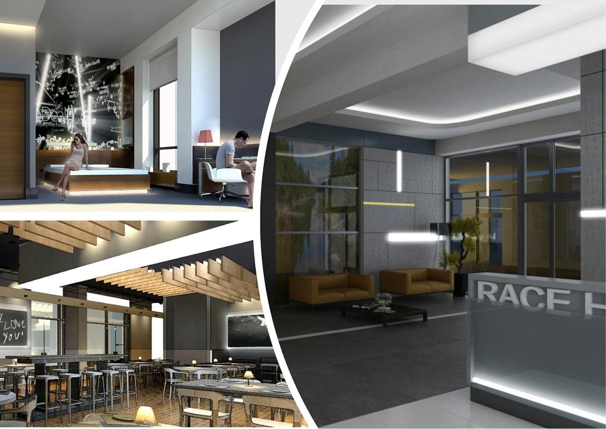 Проектирование отеля в Алматы, Race Hotel