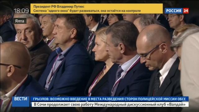Новости на Россия 24 • Удивительные идиоты Путин прокомментировал отключение Крыма от Украины