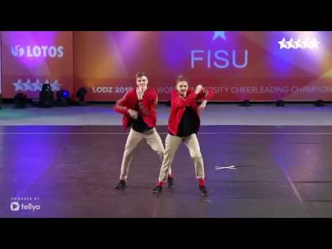 2018 FISU World University Cheerleading Championship Cheer Hip Hop Doubles Belarus
