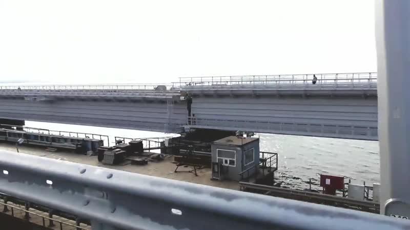 Керченский Мост 25 11 2018.Весь Мост.Еxclusive. Подвоз последнего пролёта на Про