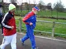 Fauja singh 97 with buster martin 101 training 3
