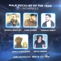 Country Music Association on Instagram The #CMAawards MALE VOCALIST of the Year nominees are... @DierksBentley, @LukeCombs, @ThomasRhettAkins, @C...
