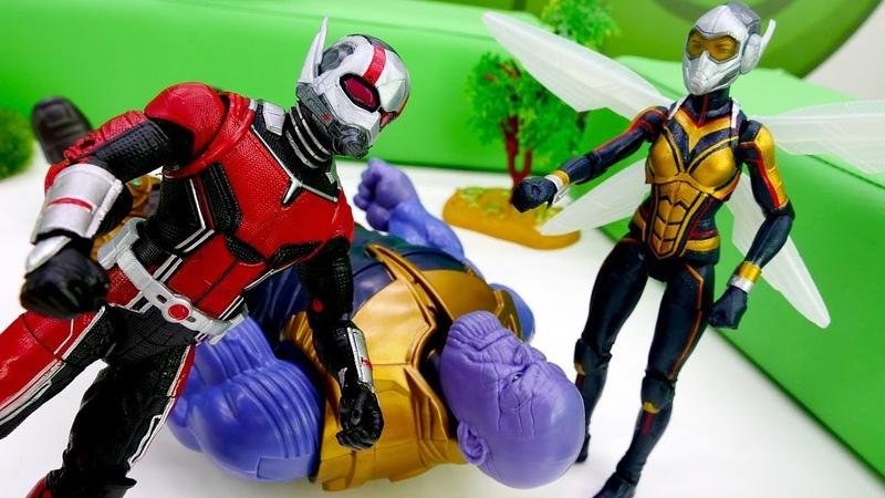 Человек Муравей и Оса против Таноса Супергерои Марвел