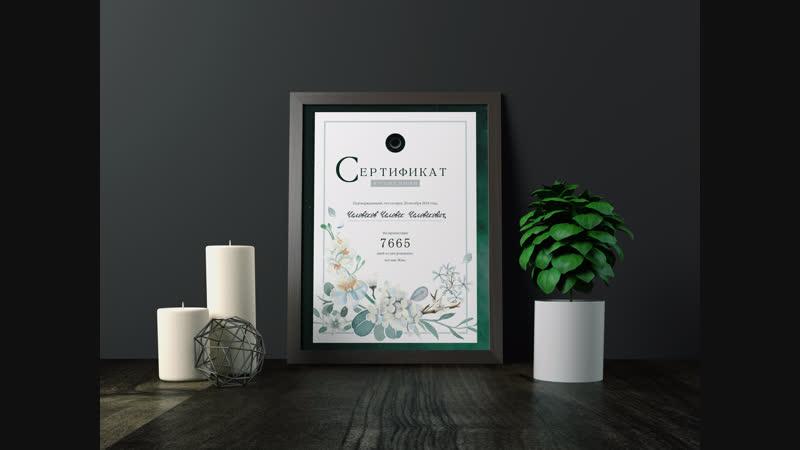 Презентация Сертификата Жизненности