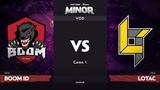 RU BOOM ID vs Lotac, Game 1, SEA Qualifier, StarLadder ImbaTV Dota 2 Minor